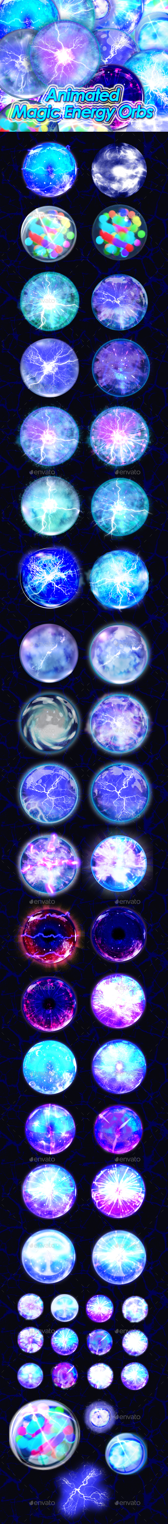 Magic Energy Orb (Sprites)