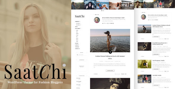 Saatchi - WordPress Theme for Fashion Bloggers
