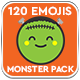 120 Animated Emojis - Monster Pack