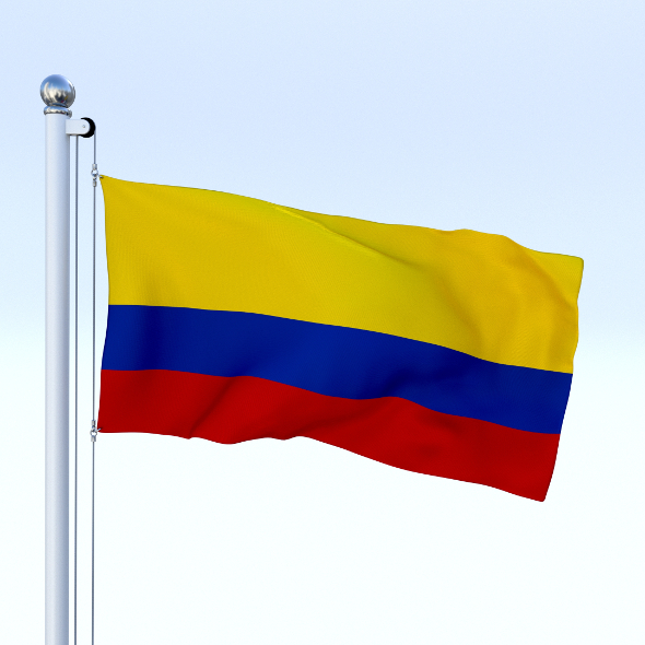 Animated Colombia Flag - 3DOcean Item for Sale