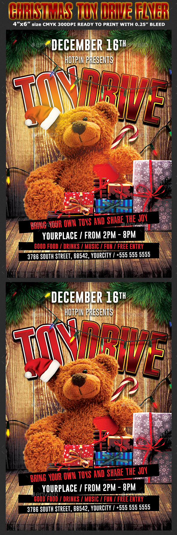 christmas toy drive flyer