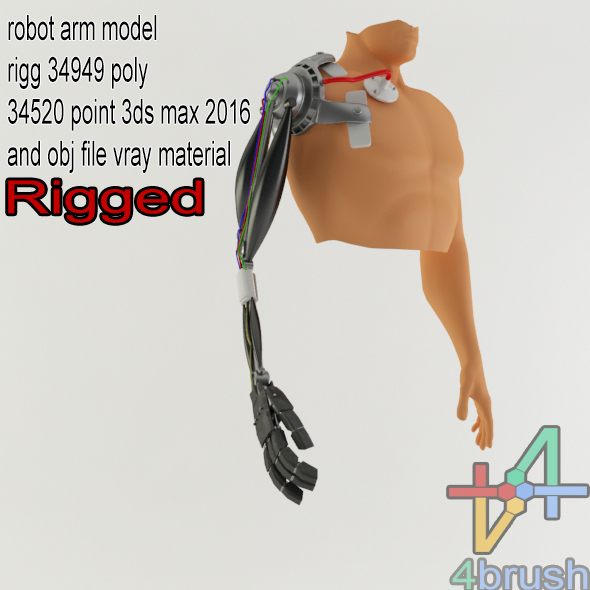 3DOcean robo arm rigged 18675018