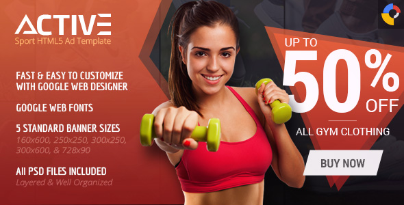 Download Active - Sport HTML5 Ad Template nulled download