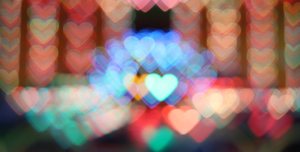 Heart Shaped Bokeh Lights 2