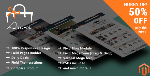 Download Aruna - Responsive Magento 2 Theme nulled download