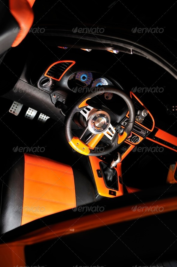 Classy car interior - Stock Photo - Images