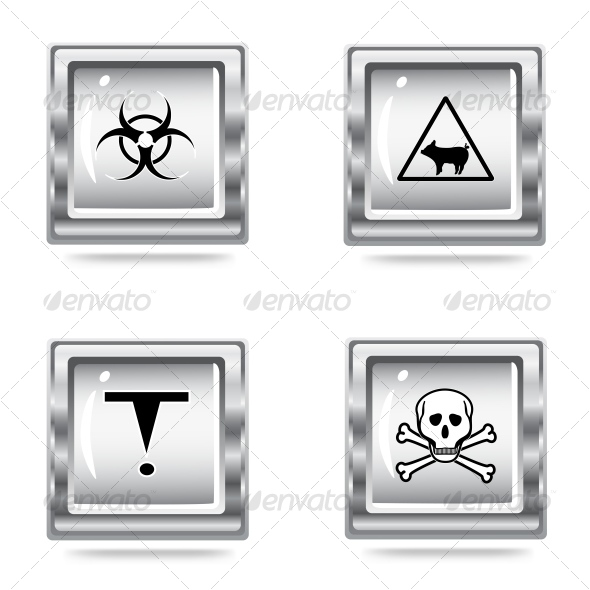 icons set of the Hazard signs