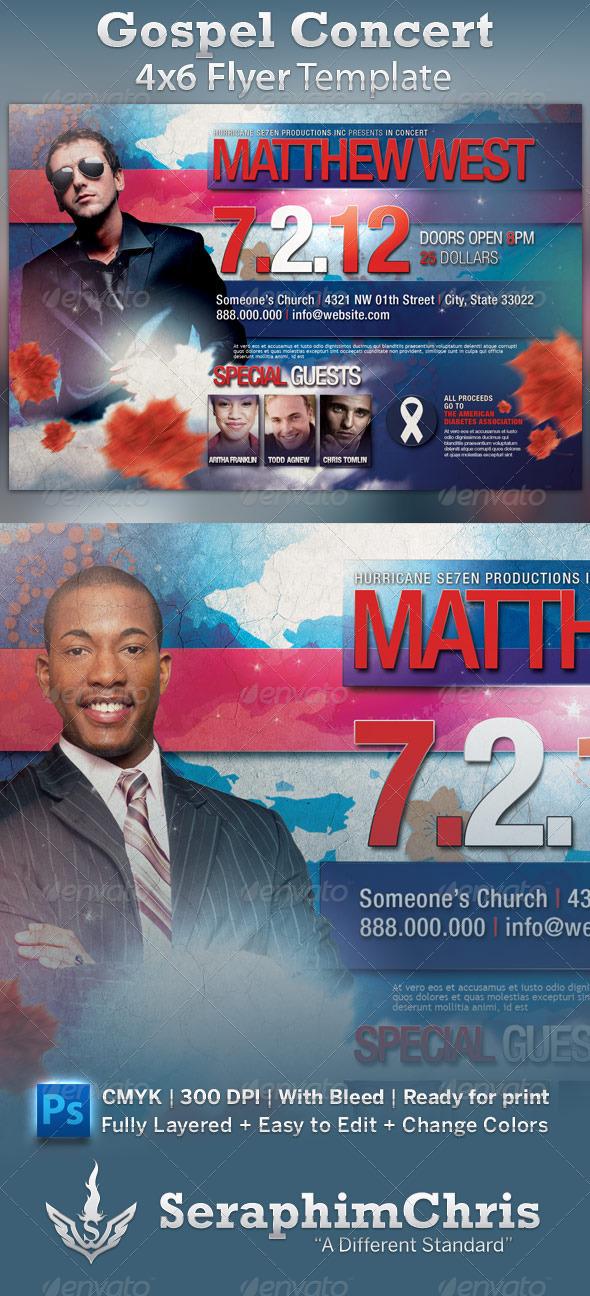 GraphicRiver Gospel Concert Flyer 575752