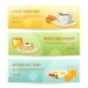 Breakfast Time Banners Set