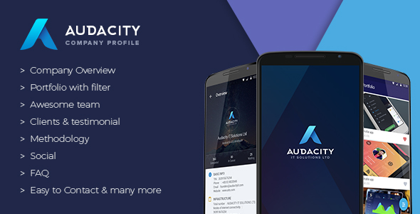 Download Admin Panel Audacity - Marketing App nulled download