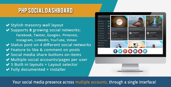 PHP Social Dashboard (Social Networking)