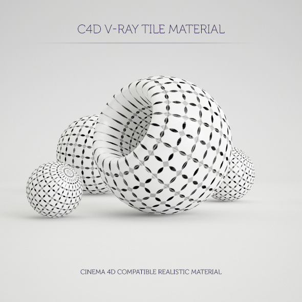 C4D V-Ray Marrakesh Tile Material - 3DOcean Item for Sale