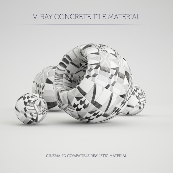 C4D V-Ray Concrete Tile Material - 3DOcean Item for Sale