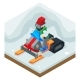 Snowmobile Winter Activity Vacation Journey Flat