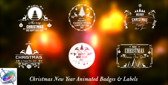 Christmas New Year Badges - Apple Motion