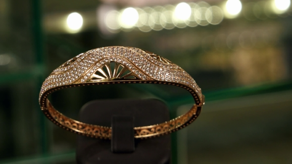 VideoHive Fashion Jewelry Accessories For Women Made Of Gold 18680164