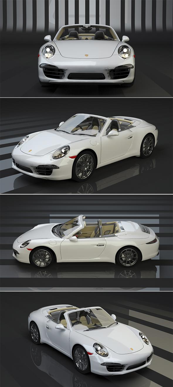 3DOcean Porsche 911 Carerra S Cabriolet 18681572