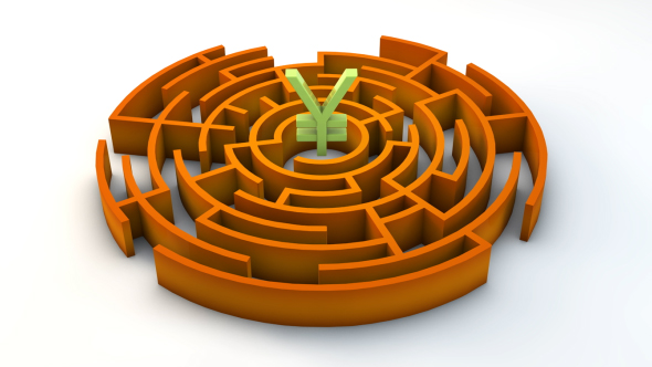 Download 3d Maze With Japanese Yen Sign nulled download