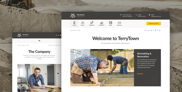 Download Terrytown - Construction & Renovation WordPress Theme nulled download