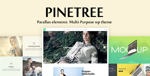 Pinetree - Multi-Purpose Creative Agency / Portfolio / Photography Theme with Page Builder