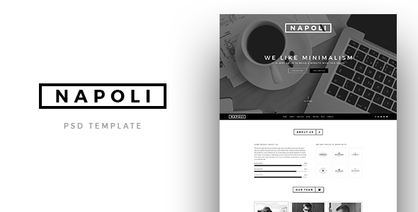 Napoli – Creative OnePage PSD Template (PSD Templates) Download