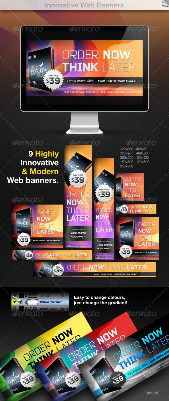 Innovative Web Banners - Banners & Ads Web Elements