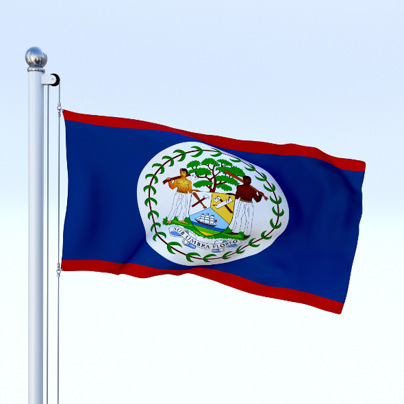 Animated Belize Flag - 3DOcean Item for Sale
