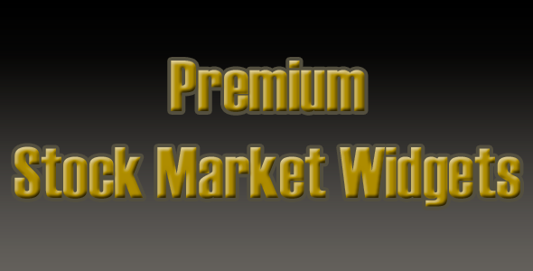 Premium Stock Marketplace Widgets (Miscellaneous)