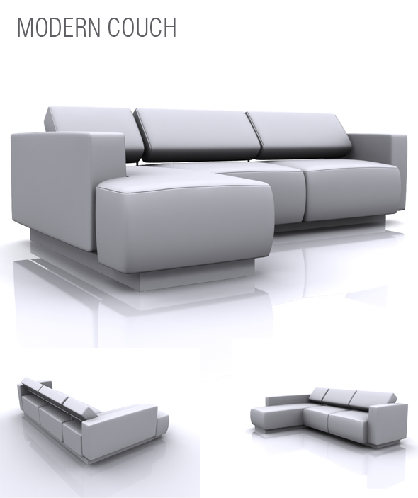 Modern Couch - 3DOcean Item for Sale