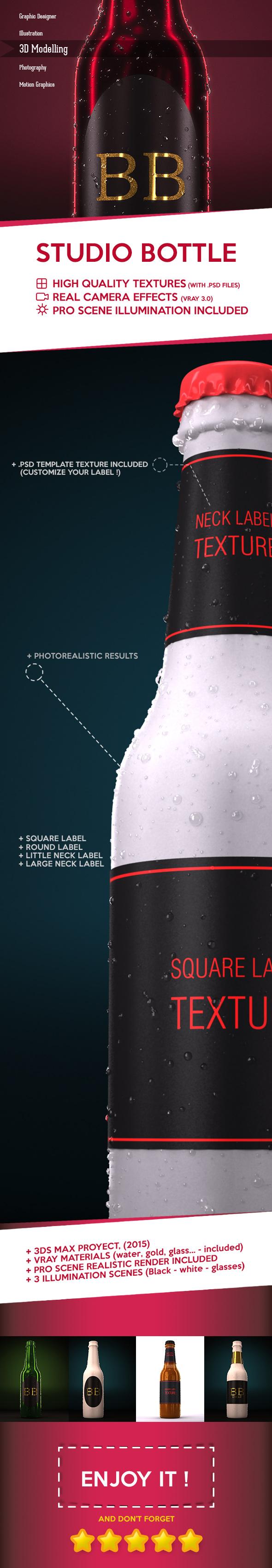 3DOcean Bottle Studio Setup 18672456