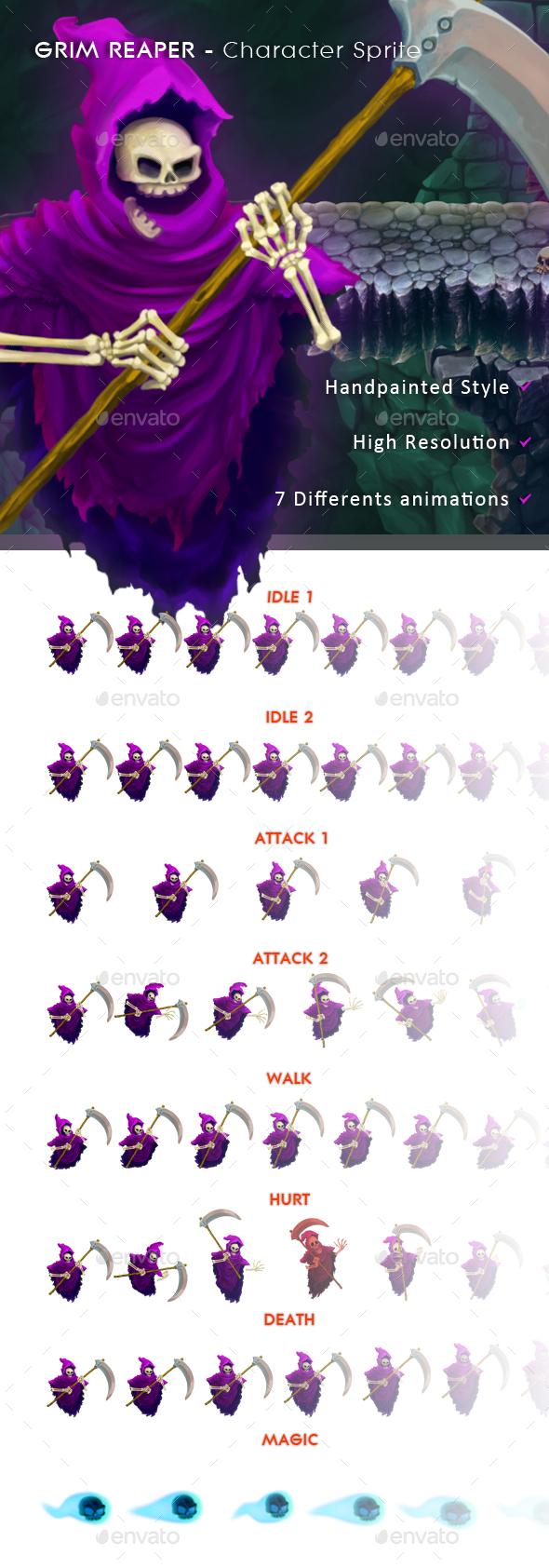 Grim Reaper - Character Sprite (Sprites)