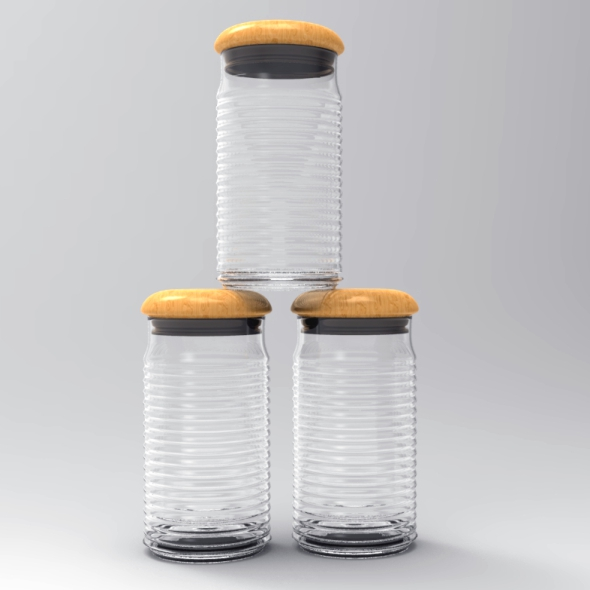 Glass Bottle 3D Model - 3DOcean Item for Sale