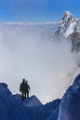 Climbers on the Mont Blanc massif
