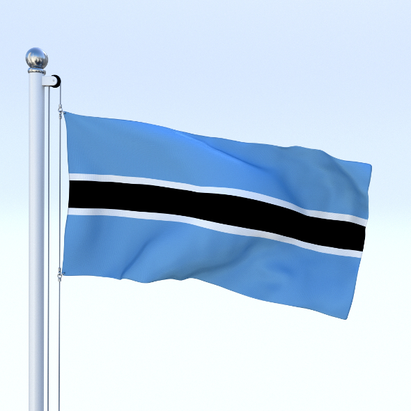 Animated Botswana Flag - 3DOcean Item for Sale