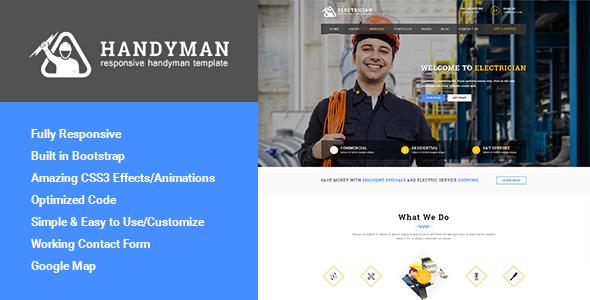 Download Handyman - Responsive HTML Template | Business