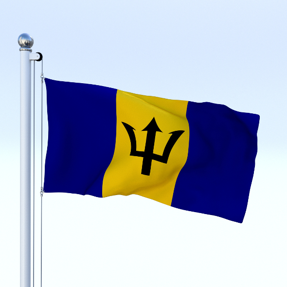 Animated Barbados Flag - 3DOcean Item for Sale