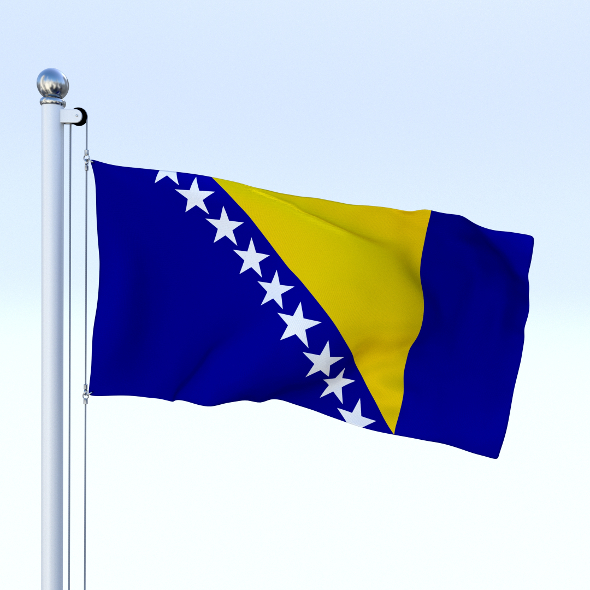 Animated Bosnia and Herzegovina Flag - 3DOcean Item for Sale