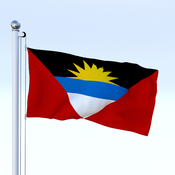 Animated Antigua and Barbuda Flag - 3DOcean Item for Sale