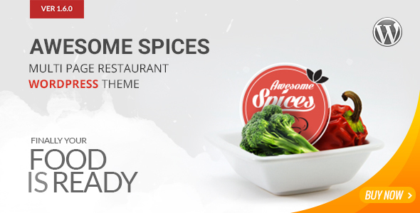 Awesome Spice - Restaurant / Cafe WordPress Theme