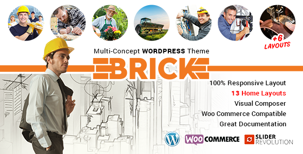 Download Brick – Multi Concept WordPress Theme nulled download