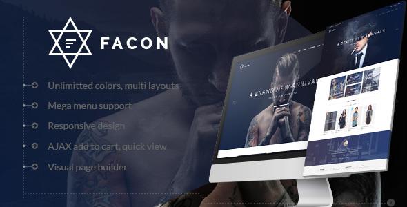 Фото Wordpress Template  Facon - Fashion Responsive WordPress Theme — 01 preview.  large preview