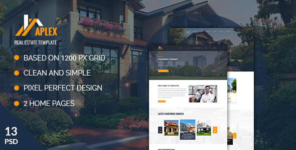 Aplex — Apartment Complex PSD Template