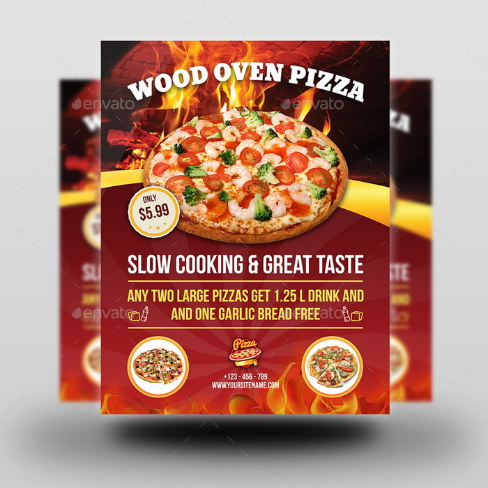 Pizza restaurant advertising bundle vol 2 by owpictures for Pizza sale flyer template