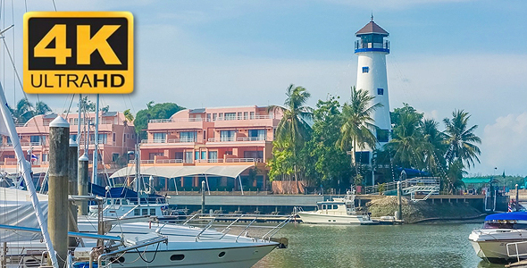 VideoHive The Pier with Yachts 18702396