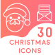 Set of 30 Christmas Icon Set