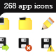 268 Outlined Web 2.0 Style App Icons / Web Buttons - GraphicRiver Item for Sale