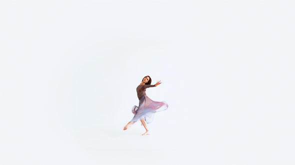 Download Young Girl Dance Modern Contemporary Style On A White Background 2 nulled download