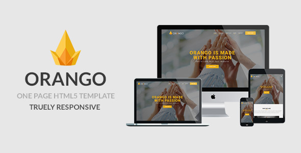 ORANGO - One Page Responsive HTML5 Template