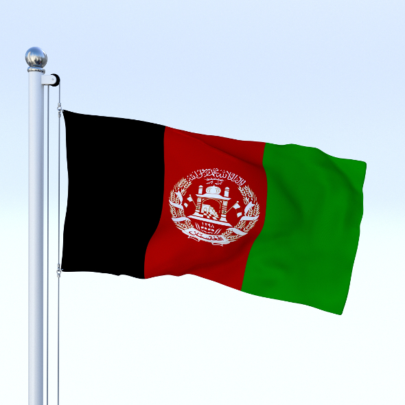 Animated Afghanistan Flag - 3DOcean Item for Sale