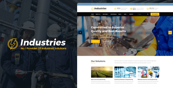 Industries - Factory, Company And Industry Business HTML Template